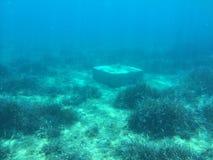 Isla subacuática Evvoia un lugar a viajar allí Fotos de archivo