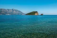 Isla Sveti Nikola, Montenegro de Budva imagen de archivo libre de regalías