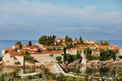 Isla Sveti Stefan - Montenegro Foto de archivo libre de regalías