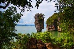 Isla Tailandia de James Bond Foto de archivo libre de regalías