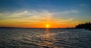 Isla Tanzania de la mafia de la puesta del sol Imagen de archivo libre de regalías