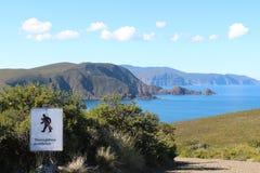 Isla Tasmania de Bruny de la bahía del faro Fotos de archivo libres de regalías