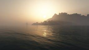 Isla tropical 1 Foto de archivo libre de regalías
