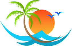 Isla tropical libre illustration