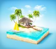 Isla tropical stock de ilustración