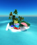 isla tropical Royalty Free Stock Image