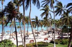 Isla tropical de Aruba del centro turístico, del Caribe Foto de archivo libre de regalías