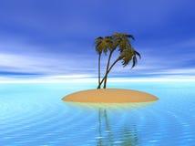 Isla tropical de la palma Ilustración del Vector
