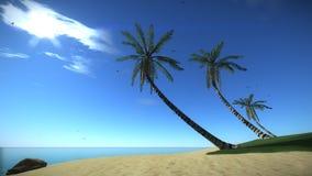 Isla tropical de la playa en el verano libre illustration