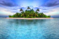 Isla tropical de Maldives foto de archivo libre de regalías