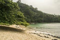 Isla tropical de Sao Tome fotografía de archivo