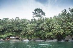Isla tropical de Sao Tome imágenes de archivo libres de regalías
