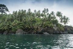 Isla tropical de Sao Tome imagen de archivo libre de regalías