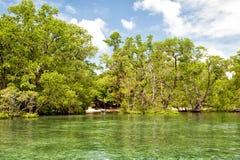 Isla tropical del paraíso de la turquesa de la laguna de Siladen foto de archivo libre de regalías