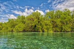 Isla tropical del paraíso de la turquesa de Siladen Fotos de archivo libres de regalías