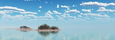 Isla tropical en el mar ilustración del vector