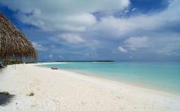 Isla tropical en el Océano Índico Imagen de archivo