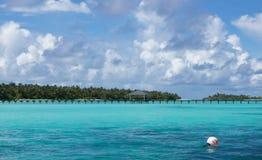Isla tropical en el Océano Índico Fotos de archivo libres de regalías