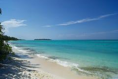 Isla tropical en el Océano Índico Imágenes de archivo libres de regalías