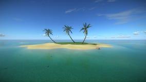 Isla tropical en el océano de la turquesa ilustración del vector