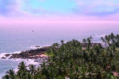 Isla tropical en el Océano Índico Fotografía de archivo