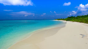 Isla tropical en Maldives Imagenes de archivo