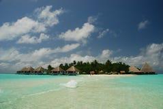 Isla tropical Gangehi Ari Atoll maldives fotografía de archivo