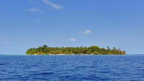 Isla tropical hermosa de Maldivas Fotografía de archivo