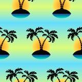 Isla tropical inconsútil un modelo del vector del ` s de la palma Imagen de archivo libre de regalías