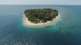 Isla tropical Putipot con la playa almacen de video
