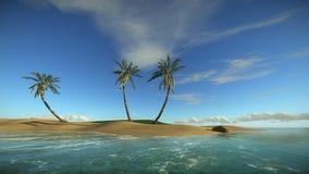 Isla tropical sola en verano libre illustration