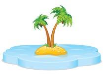 Isla tropical Vector Imagen de archivo libre de regalías