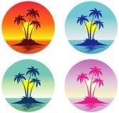 Isla tropical (vector) Foto de archivo libre de regalías