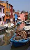 Isla veneciana de Burano, Italia Imagen de archivo