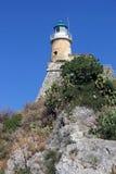 Isla vieja de Corfú del faro Foto de archivo