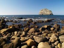 Isla Villano rock island Stock Image