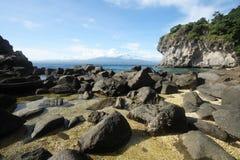 Isla volcánica Fotos de archivo