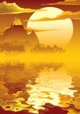 Isla volcánica Foto de archivo libre de regalías
