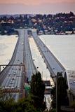 Isla Washington del sedero de Seattle del puente I-90 Fotografía de archivo libre de regalías