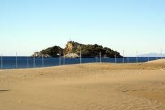 Isla y playa Imagen de archivo libre de regalías