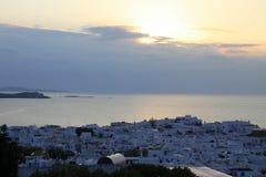 Isla y playa de la puesta del sol imágenes de archivo libres de regalías