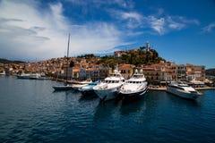 Islabd di Poros, Grecia Fotografia Stock