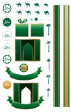 Islam Arabic set. This illustration is drawing Islam Arabic element in isolated object with white color background stock images