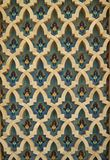 Islam art pattern. Islamic art on the wall of the Hassan II mosque, Casablanca, Morocco Stock Image