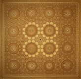Islam art pattern. Islamic art on the wall of the Hassan II mosque, Casablanca, Morocco Royalty Free Stock Images