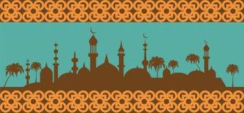 Islam banner. Muslim culture. Vector illustration stock illustration