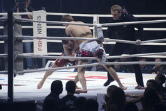 Islam Begidov versus Daniil Voevodin Royalty Free Stock Photos