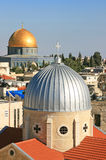 Islam and christianity in Jerusalem. Royalty Free Stock Photography