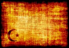 Islam Crescent Engraved on a Parchment Stock Photo