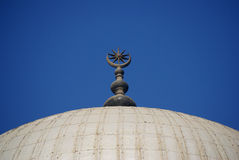 Islam Crescent. At Muhammad Ali Mosque, Cairo Egypt stock images